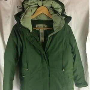 LL BEAN down coat nwot green